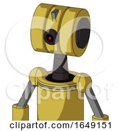 Yellow Droid With Multi Toroid Head And Black Cyclops Eye