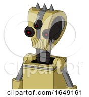 Yellow Droid With Droid Head And Speakers Mouth And Three Eyed And Three Spiked