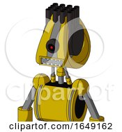 Yellow Droid With Droid Head And Square Mouth And Black Cyclops Eye And Pipe Hair