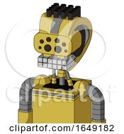 Yellow Droid With Droid Head And Keyboard Mouth And Bug Eyes And Pipe Hair