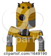 Yellow Droid With Dome Head And Toothy Mouth And Black Cyclops Eye