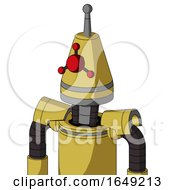 Yellow Droid With Cone Head And Cyclops Compound Eyes And Single Antenna