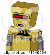 Yellow Droid With Box Head And Round Mouth And Visor Eye
