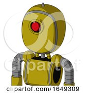 Yellow Automaton With Bubble Head And Cyclops Eye And Spike Tip