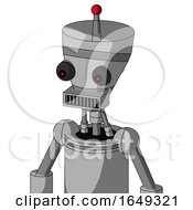 White Automaton With Vase Head And Square Mouth And Red Eyed And Single Led Antenna