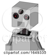 White Automaton With Box Head And Vent Mouth And Three Eyed
