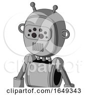 White Automaton With Bubble Head And Vent Mouth And Bug Eyes And Double Antenna