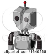 White Automaton With Mechanical Head And Two Eyes And Single Led Antenna