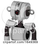 White Automaton With Multi Toroid Head And Pipes Mouth And Black Cyclops Eye