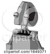 White Automaton With Droid Head And Two Eyes
