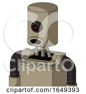 Tan Robot With Cylinder Head And Round Mouth And Black Cyclops Eye