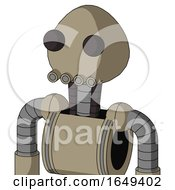 Tan Robot With Rounded Head And Pipes Mouth And Two Eyes