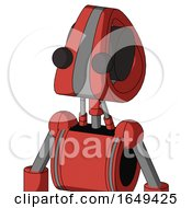Tomato Red Droid With Droid Head And Two Eyes