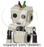 Tan Mech With Box Head And Round Mouth And Two Eyes And Wire Hair