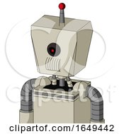 Tan Mech With Box Head And Speakers Mouth And Black Cyclops Eye And Single Led Antenna