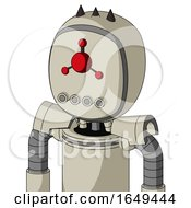 Tan Mech With Bubble Head And Pipes Mouth And Cyclops Compound Eyes And Three Dark Spikes