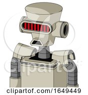 Tan Mech With Cylinder Conic Head And Sad Mouth And Visor Eye