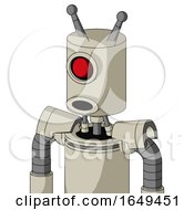 Tan Mech With Cylinder Head And Round Mouth And Cyclops Eye And Double Antenna