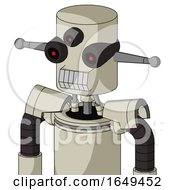Tan Mech With Cylinder Head And Teeth Mouth And Three Eyed