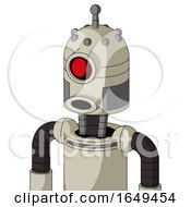 Tan Mech With Dome Head And Round Mouth And Cyclops Eye And Single Antenna