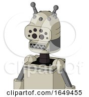 Tan Mech With Dome Head And Square Mouth And Bug Eyes And Double Antenna