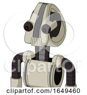Tan Mech With Droid Head And Speakers Mouth And Red Eyed