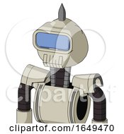 Tan Mech With Rounded Head And Toothy Mouth And Large Blue Visor Eye And Spike Tip
