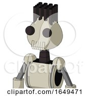 Tan Mech With Rounded Head And Toothy Mouth And Two Eyes And Pipe Hair