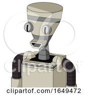 Tan Mech With Vase Head And Happy Mouth And Two Eyes