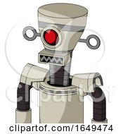 Tan Mech With Vase Head And Square Mouth And Cyclops Eye