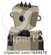 Tan Robot With Box Head And Black Cyclops Eye And Three Dark Spikes