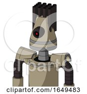 Tan Robot With Cone Head And Black Cyclops Eye And Pipe Hair