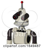 Tan Mech With Cone Head And Pipes Mouth And Three Eyed And Single Led Antenna