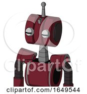 Red Droid With Multi Toroid Head And Two Eyes And Single Antenna
