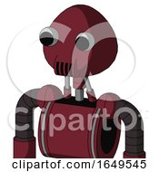 Red Droid With Rounded Head And Speakers Mouth And Two Eyes