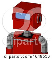 Red Mech With Box Head And Large Blue Visor Eye