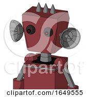 Red Mech With Box Head And Red Eyed And Three Spiked