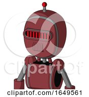 Red Mech With Bubble Head And Speakers Mouth And Visor Eye And Single Led Antenna