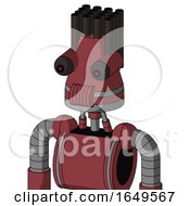 Red Mech With Cone Head And Speakers Mouth And Red Eyed And Pipe Hair