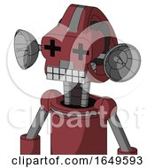 Red Mech With Droid Head And Keyboard Mouth And Plus Sign Eyes