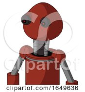 Red Automaton With Rounded Head And Red Eyed