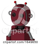 Red Droid With Bubble Head And Vent Mouth And Red Eyed And Double Led Antenna