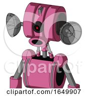 Pink Robot With Multi Toroid Head And Round Mouth And Black Cyclops Eye