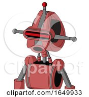 Pinkish Mech With Droid Head And Round Mouth And Visor Eye And Single Led Antenna