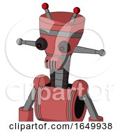 Pinkish Mech With Vase Head And Speakers Mouth And Red Eyed And Double Led Antenna
