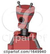 Pinkish Mech With Vase Head And Toothy Mouth And Black Cyclops Eye And Double Antenna