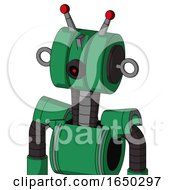 Green Automaton With Multi Toroid Head And Black Cyclops Eye And Double Led Antenna