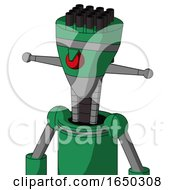 Green Automaton With Vase Head And Angry Cyclops And Pipe Hair