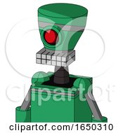 Green Automaton With Vase Head And Keyboard Mouth And Cyclops Eye