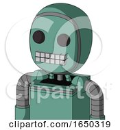 Green Mech With Bubble Head And Keyboard Mouth And Two Eyes